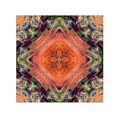 Boho Bohemian Hippie Floral Abstract Faded  Small Satin Scarf (square) by CrypticFragmentsDesign