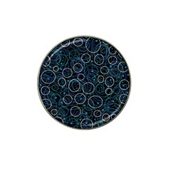 Blue Abstract Decor Hat Clip Ball Marker by Valentinaart