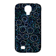 Blue Abstract Decor Samsung Galaxy S4 Classic Hardshell Case (pc+silicone) by Valentinaart