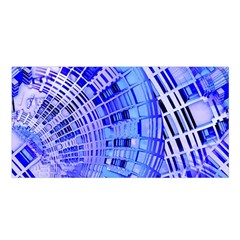 Semi Circles Abstract Geometric Modern Art Blue  Satin Shawl by CrypticFragmentsDesign