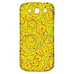 Yellow Abstract Art Samsung Galaxy S3 S Iii Classic Hardshell Back Case by Valentinaart