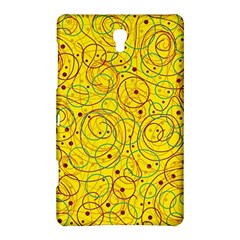 Yellow abstract art Samsung Galaxy Tab S (8.4 ) Hardshell Case  by Valentinaart