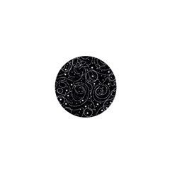 Black and white magic 1  Mini Buttons by Valentinaart