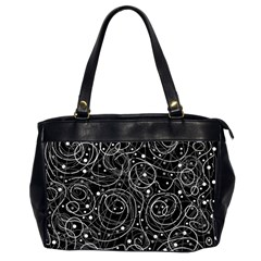 Black And White Magic Office Handbags (2 Sides)