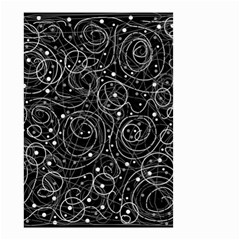 Black And White Magic Small Garden Flag (two Sides)
