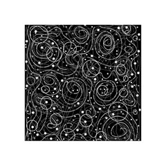 Black And White Magic Acrylic Tangram Puzzle (4  X 4 ) by Valentinaart