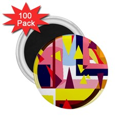 Colorful Abstraction 2 25  Magnets (100 Pack)  by Valentinaart