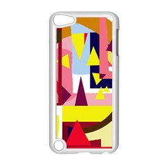 Colorful Abstraction Apple Ipod Touch 5 Case (white) by Valentinaart