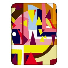 Colorful Abstraction Samsung Galaxy Tab 3 (10 1 ) P5200 Hardshell Case  by Valentinaart