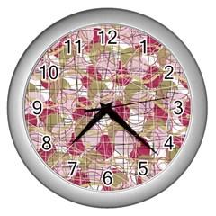 Decor Wall Clocks (silver)  by Valentinaart