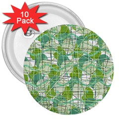 Gray Decorative Abstraction 3  Buttons (10 Pack)  by Valentinaart