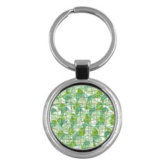 Gray Decorative Abstraction Key Chains (round)  by Valentinaart