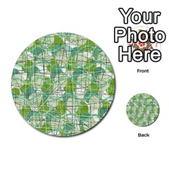 Gray Decorative Abstraction Multi Purpose Cards (round)