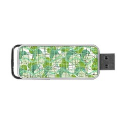 Gray decorative abstraction Portable USB Flash (Two Sides) by Valentinaart