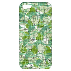 Gray Decorative Abstraction Apple Iphone 5 Hardshell Case by Valentinaart