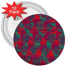 Decorative Abstract Art 3  Buttons (10 Pack)  by Valentinaart