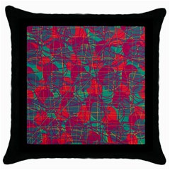 Decorative Abstract Art Throw Pillow Case (black) by Valentinaart