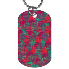 Decorative Abstract Art Dog Tag (one Side) by Valentinaart