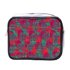 Decorative Abstract Art Mini Toiletries Bags by Valentinaart
