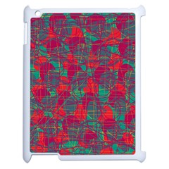 Decorative Abstract Art Apple Ipad 2 Case (white) by Valentinaart
