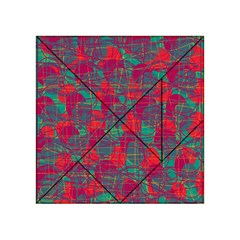 Decorative Abstract Art Acrylic Tangram Puzzle (4  X 4 ) by Valentinaart