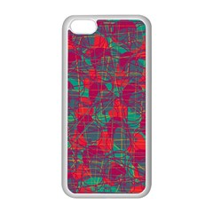Decorative Abstract Art Apple Iphone 5c Seamless Case (white) by Valentinaart