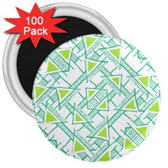 Ethnic Geo Pattern 3  Magnets (100 Pack) by dflcprints