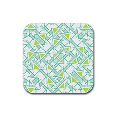 Ethnic Geo Pattern Rubber Square Coaster (4 Pack)  by dflcprints