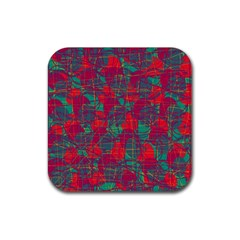 Decorative Abstract Art Rubber Square Coaster (4 Pack)  by Valentinaart