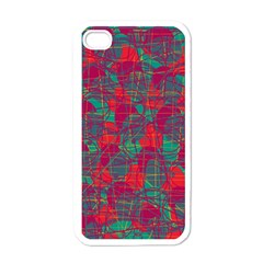 Decorative Abstract Art Apple Iphone 4 Case (white) by Valentinaart
