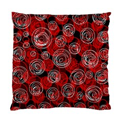 Red Abstract Decor Standard Cushion Case (two Sides) by Valentinaart