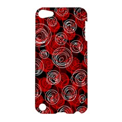 Red Abstract Decor Apple Ipod Touch 5 Hardshell Case by Valentinaart