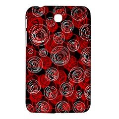 Red Abstract Decor Samsung Galaxy Tab 3 (7 ) P3200 Hardshell Case  by Valentinaart