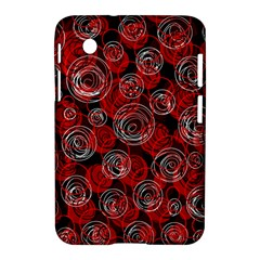 Red Abstract Decor Samsung Galaxy Tab 2 (7 ) P3100 Hardshell Case  by Valentinaart