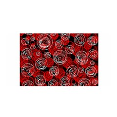 Red Abstract Decor Satin Wrap by Valentinaart