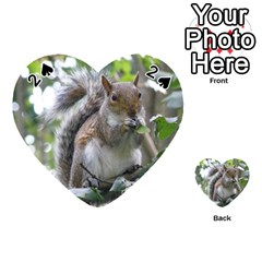 Gray Squirrel Eating Sycamore Seed Playing Cards 54 (Heart)  by GiftsbyNature