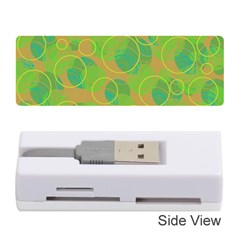 Green Decorative Art Memory Card Reader (stick)  by Valentinaart