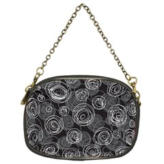 Gray abstract art Chain Purses (Two Sides)