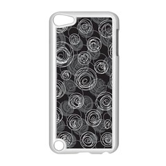 Gray Abstract Art Apple Ipod Touch 5 Case (white) by Valentinaart