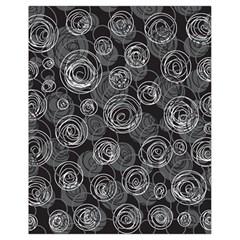 Gray Abstract Art Drawstring Bag (small) by Valentinaart