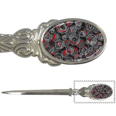 Red And Gray Abstract Art Letter Openers by Valentinaart