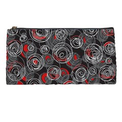 Red And Gray Abstract Art Pencil Cases by Valentinaart