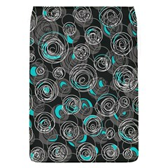 Gray And Blue Abstract Art Flap Covers (s)  by Valentinaart