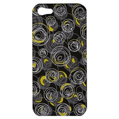 Gray And Yellow Abstract Art Apple Iphone 5 Hardshell Case by Valentinaart