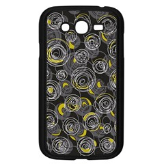 Gray And Yellow Abstract Art Samsung Galaxy Grand Duos I9082 Case (black) by Valentinaart