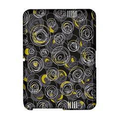 Gray and yellow abstract art Amazon Kindle Fire (2012) Hardshell Case by Valentinaart
