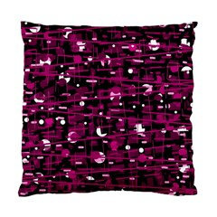 Magenta Abstract Art Standard Cushion Case (one Side) by Valentinaart