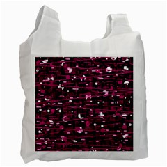 Magenta Abstract Art Recycle Bag (two Side)  by Valentinaart