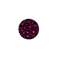 Magenta Abstract Art 1  Mini Buttons by Valentinaart