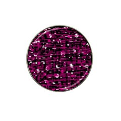 Magenta Abstract Art Hat Clip Ball Marker (4 Pack) by Valentinaart